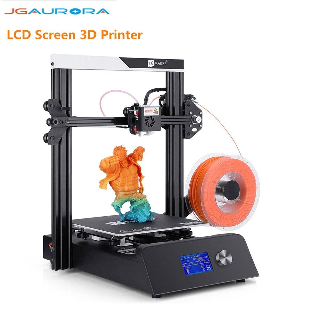 JGAURORA Magic bricolage 3D imprimante 220x220x250mm haute précision en métal cadre Kit d'impression KIT de bricolage Hotbed LCD écran 3D Kit d'impression
