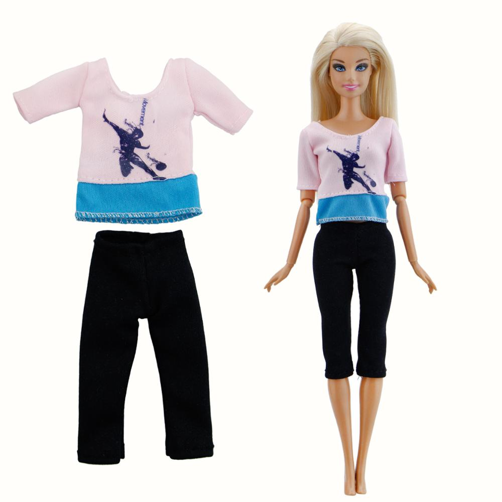 Doll Clothes Pants Jeans Capris Mini Dress Skirt Shirt Outfit Clothes For 12 in