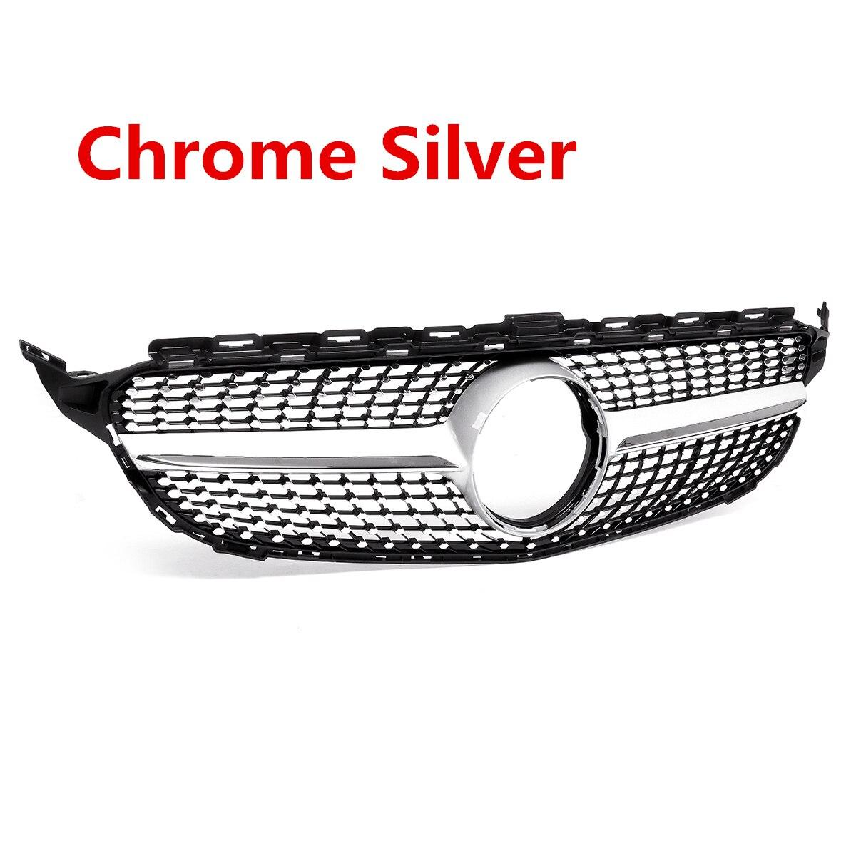1x Grille de calandre de Style diamant avant de voiture pour Mercedes pour Benz C classe W205 C200 C250 C300 C350 2015-18 sans caméra - 2