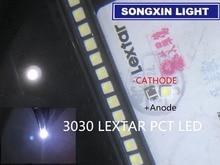 4000 個lextar ledバックライトハイパワーled pct 1.8 ワット 3030 6 12vクールホワイト 150 187LM PT30W45 V1 tvアプリケーション