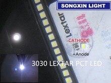 4000 pièces pour LEXTAR LED rétro éclairage haute puissance LED PCT 1.8W 3030 6V blanc froid 150 187LM PT30W45 V1 TV Application