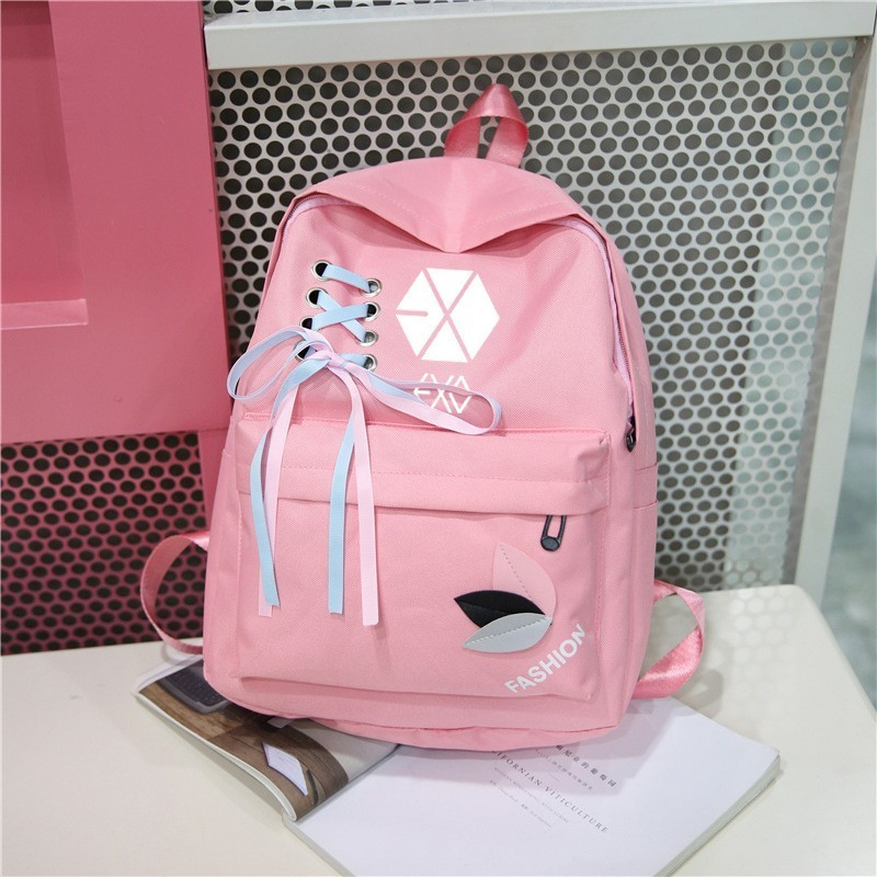 Nct Ateez Stray Kids New 2019 Exo Got7 Canvas Sac A Dos Backpack Monsta X Twice Backpacks Bag Femme Women Rucksacks
