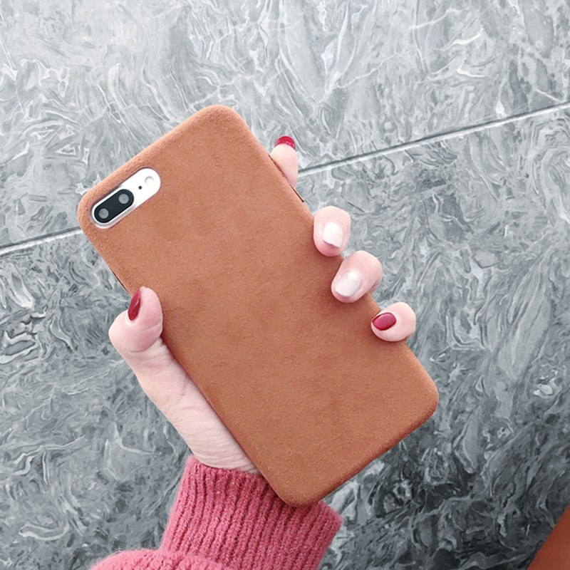 Fashion Flannel Phone Case For iPhone 7 6 6S 8 Plus Cute Handmade Fiber Plush Cases for iPhone X 10 Xs Max Xr Back Cover Case