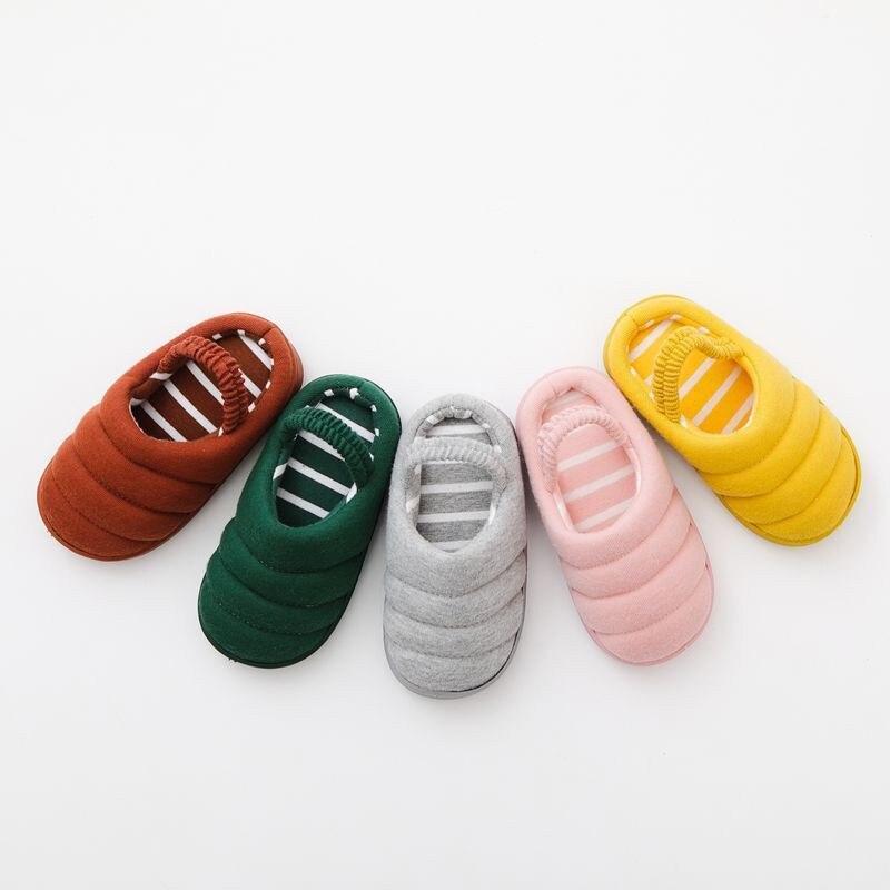 KöStlich Kinder Kinder Jungen Mädchen Mode Baumwolle Hausschuhe Unisex Kind Baumwolle Schuhe Casual Non-slip Solide Hausschuhe Ohne Schuh Ferse Strap HüBsch Und Bunt