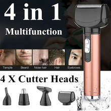 Multifunction Rechargeable 4 in 1 Men's Shaver Hair Cut Clipper Beard Trimmer El