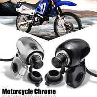 12V Black Sliver Metal Motorcycle Handlebar Cigarette Lighter Socket Power Point Charger For Harley