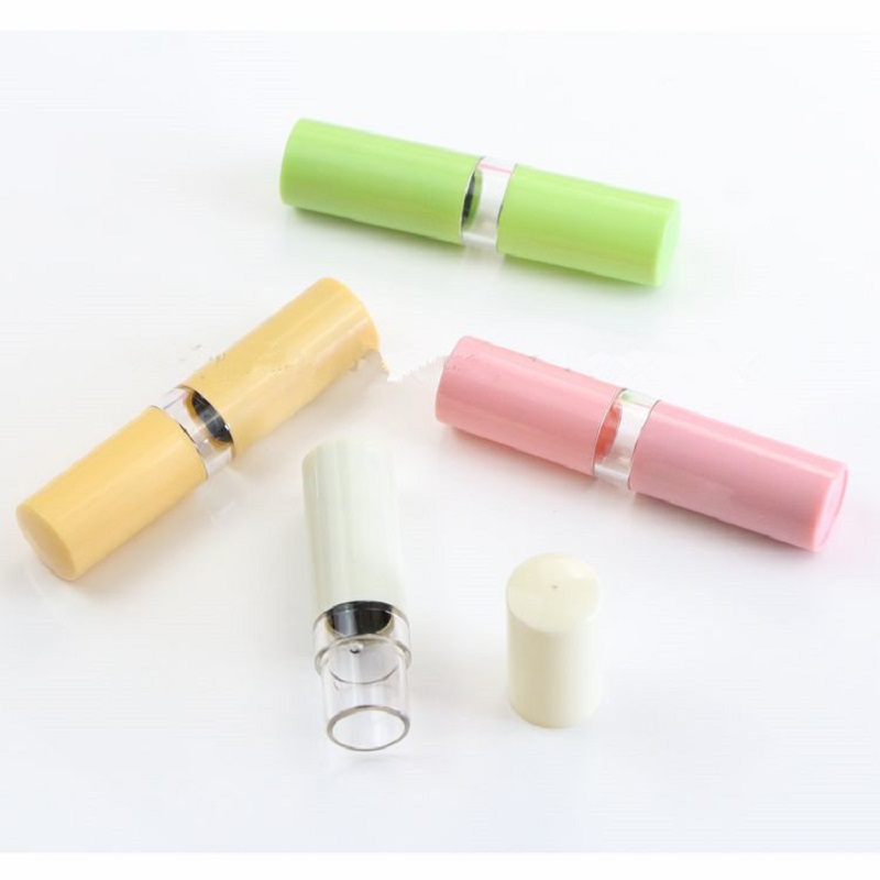 12 1mm New Brand Lovely DIY Cosmetic Container Colorful Lipstick Fashion Tube Plastic Lip Balm Empty