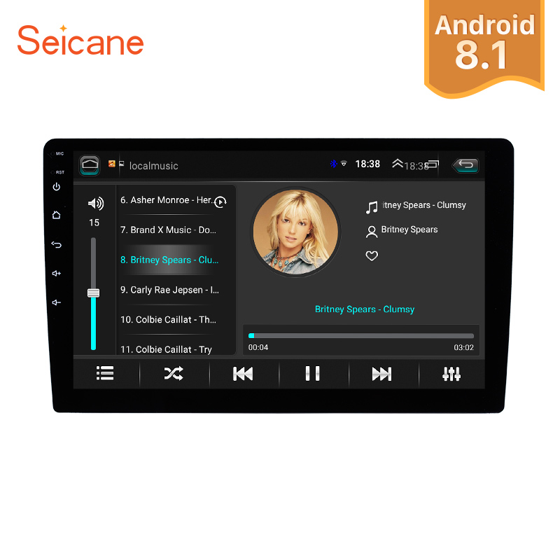 Seicane 2Din Universal Android 8.1 10 Inch Car Radio multimedia player Autoradio Touch screen GPS Bluetooth  WIFI audio stereo