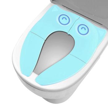 New Baby Travel składany nocnik maluch przenośny toaleta szkolenia pokrowce na siedzenia szkolenia poduszka na siedzenie dziecko Pot podkładka na krzesło tanie i dobre opinie Z tworzywa sztucznego Potties Seats 2-3Y 4-6Y 7-9Y 10-12Y 13-14Y 14Y Cartoon 5 options 25*14cm polypropylene Over 3 years