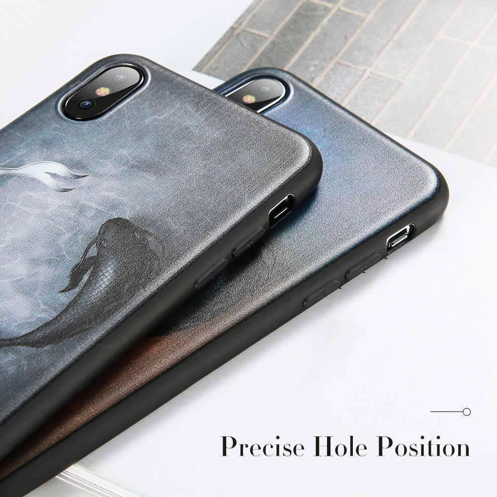 KISSCASE Stars Space рельефный чехол для телефона чехол для iPhone 7 8 6 6 S Plus, мягкий чехол из ТПУ с милыми животными для iPhone X XS Max XR 5 S SE