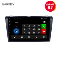 Harfey multi touch screen 9 inch Car Multimedia Player For 2004 2005 2006 2007 2008 2009 Mazda 3 Android 8.1/7.1 2 Din Quad core