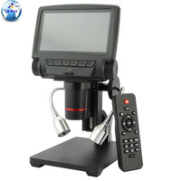 5 Inch Screen 16MP 4K 1080P 60FPS HDMI USB & WIFI Digital Industry Microscope Camera 260X C mount Lens With Remote Controller
