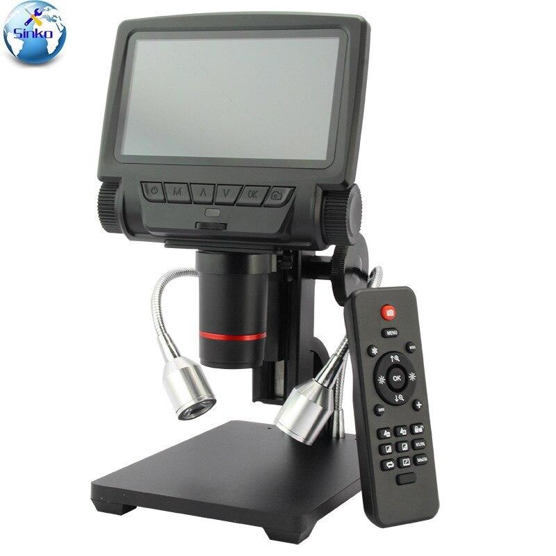 5 pouces écran 16MP 4 K 1080 P 60FPS HDMI USB et WIFI numérique industrie Microscope caméra 260X c-mount lentille avec télécommande
