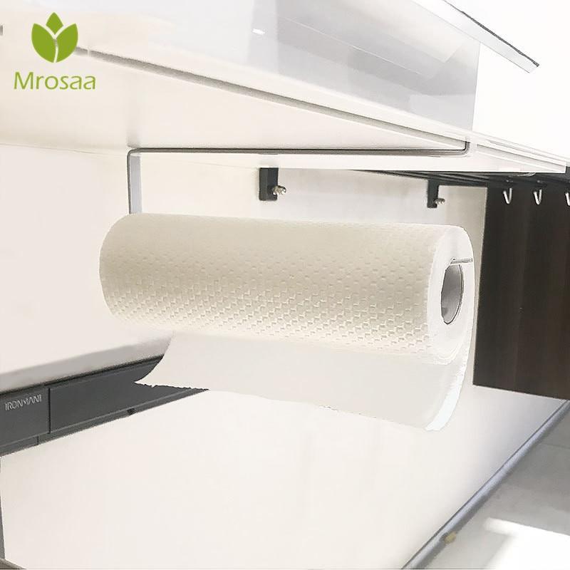 New Creative Tissue Towel Rack Kitchen Paper Holder Hanging Bathroom Toilet Roll Paper Towel Holder Kitchen Cabinet Storage Rack