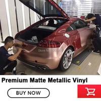 Premium rose gold car Vinyl car Wraps auto matte metallic Foil Car Wrap Film Vehicle Sticker with size:1.52x20m/Roll