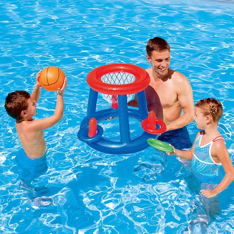 Надувной бассейн футбольная цель баскетбольная игра водный спорт плавание бассейн поплавок детская вечеринка игра игрушка водный аксессу