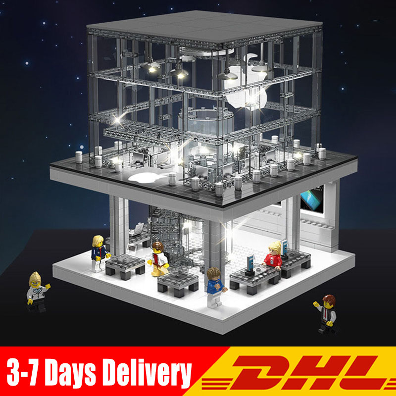 DHL SD6900 City Street View 1116 Pcs Architecture LED Flagship Store Model Building Blocks Bricks Toys Compatible LegoINGlys недорго, оригинальная цена