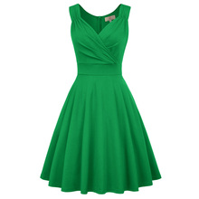 Plus Size Vintage Women 50s Retro Pin Up Housewife Evening Party Swing Tea Dress