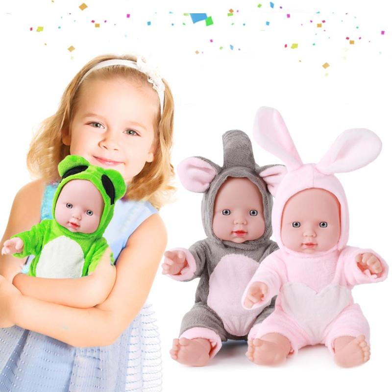 Newborn Reborn Doll Toys Baby Simulation Soft Vinyl Dolls Children Kindergarten Lifelike Toys For Children Birthday Gift