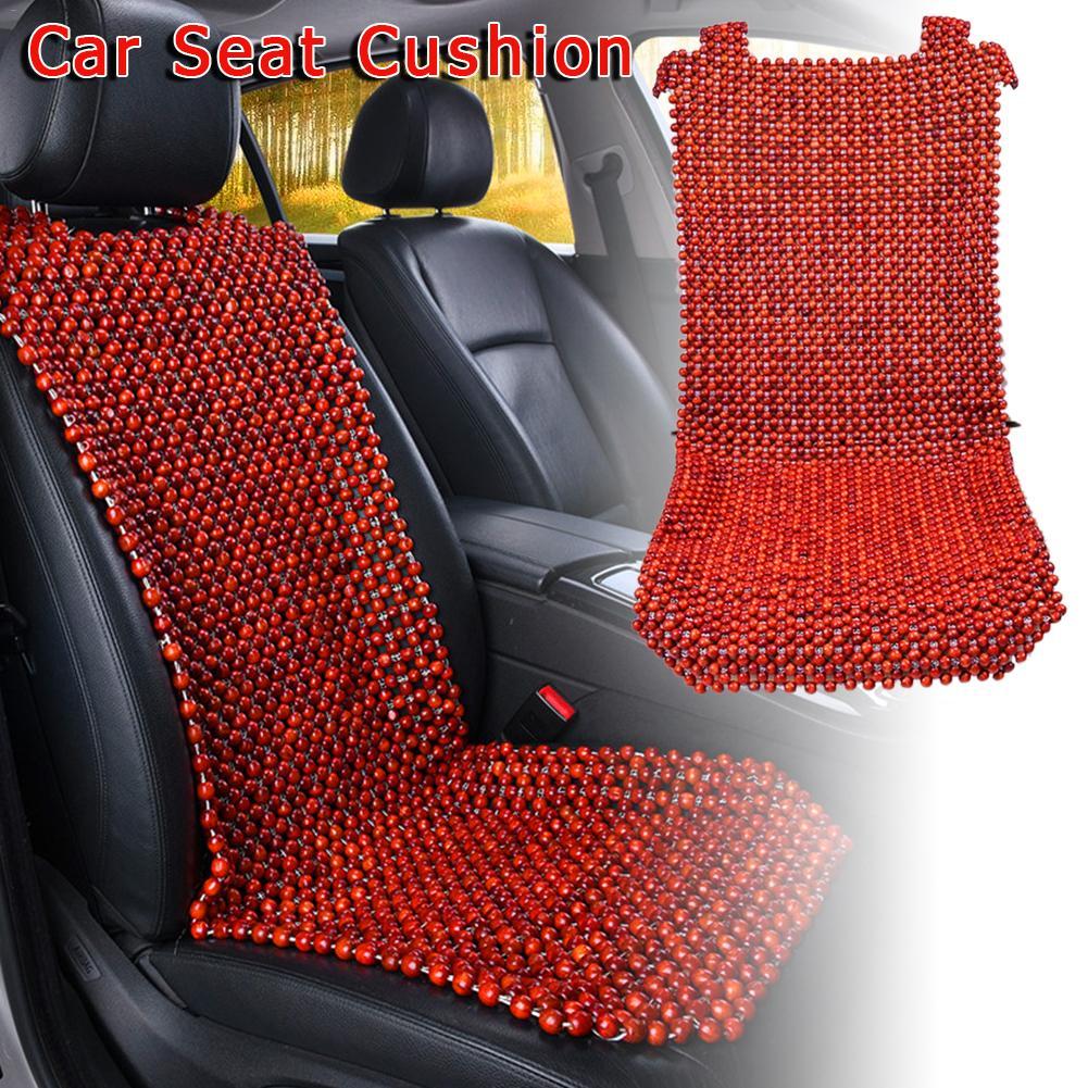Été bois naturel perlée housse de siège massant Cool coussin rouge marron pour voiture Van camion Bus bureau maison