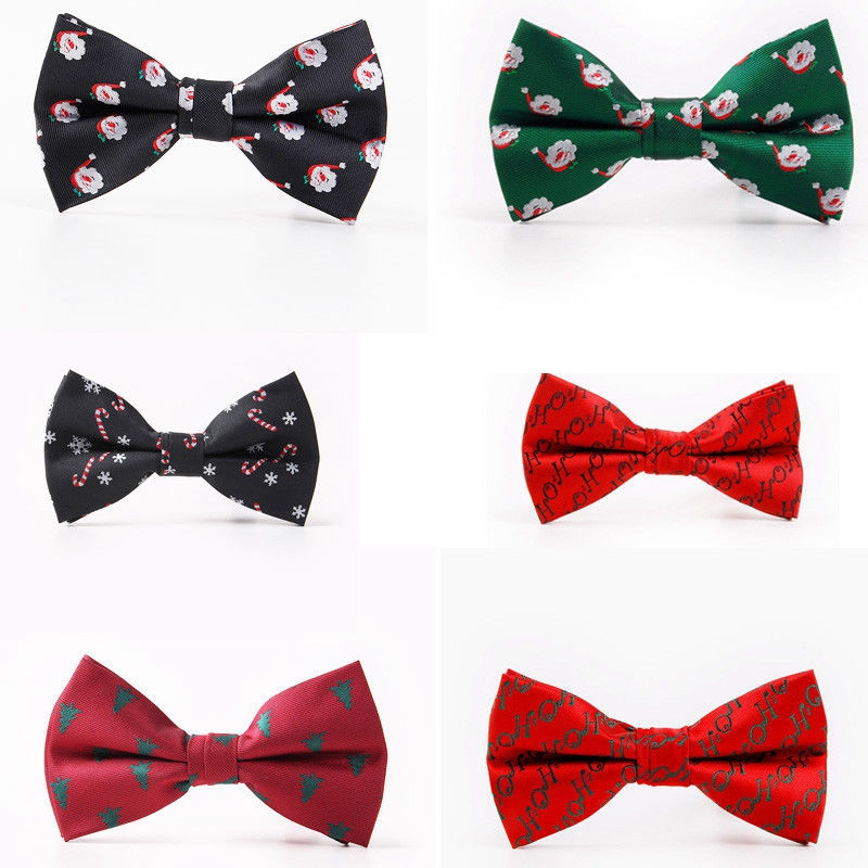 Men's Christmas Bow Tie Party Accessories Creative Christmas Tie Xmas Party