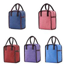 Insulation Lunch Bag Waterproof Oxford Cloth Portable Container Thickened Bento Storage Tote Pouch