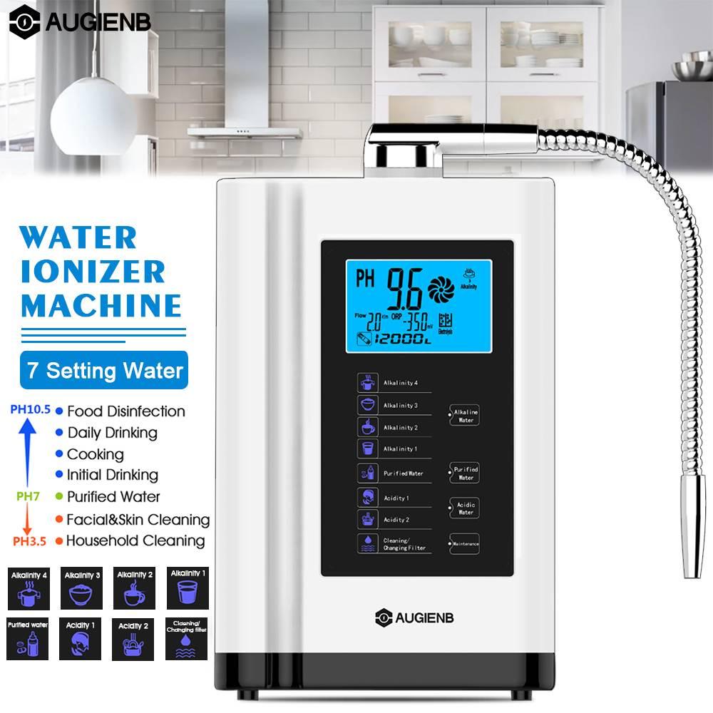 LCD Touché Contrôle Acide Alcalin Machine PH 3.5-11 Auto-Nettoyage 6000L Filtre Ioniseur D'eau Purificateur D'eau