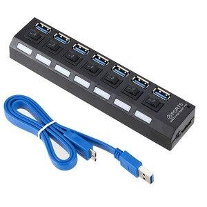 Image 1 - USB HUB 3,0 4/7 Порты Micro USB 3,0 концентратор разветвитель с Мощность адаптер USB hab высокое Скорость 5 Гбит/с USB разветвителем 3 концентратор для ПК