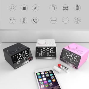Image 5 - ポータブルスピーカー X11 スマートデジタルアラーム時計傷のつきにくいミラー Bluetooth プレーヤーステレオ Hd 音 Devies ホームオフィス