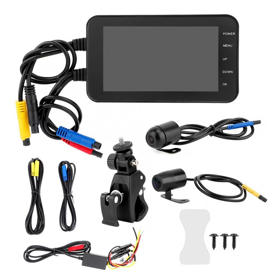 rearview mirror camera 4 Inch Motorcycle DVR 1080P Waterproof WiFi Front Rear Camera Driving Video Recorder