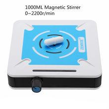 1000ml 0-2200r/min misturador magnético do agitador com agitador da barra de agitação laboratório velocidade diminuta agitador magnético 1l mini misturador