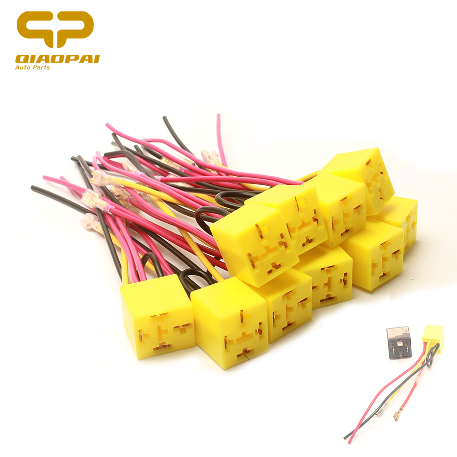 Dhka 12v Truck Car Horn Relay Wiring Harness Kit For Grille Mount Blast 10pc Universal Air 4 Pin Socket 24v Toyota Hy Volkswagen Yamaha Bmw