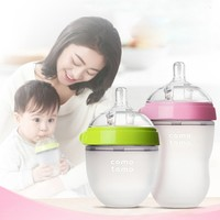 New Pattern Silicone baby bottle Silica Gel Feeding Bottle Single Infant With Spoon Newborn Toddler Supplement Rice Cereal Milk