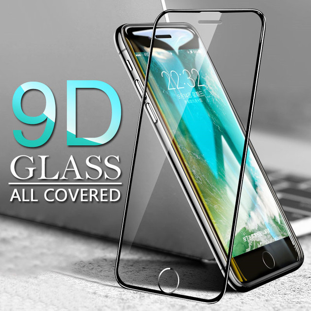 Protective Glass For iPhone 7 Screen Protector glass For iphone 6 6S 7 8 Plus X XS Tempered Glass On the For iphone 7 8 6S Film