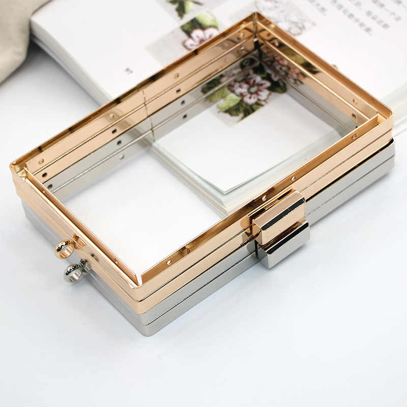 15cm Gold / Silver Screw DIY Bag  Hardware Parts Metal Purse Frame Wallet Obag Handle Wholesale Diy Frame Purse Wholesale