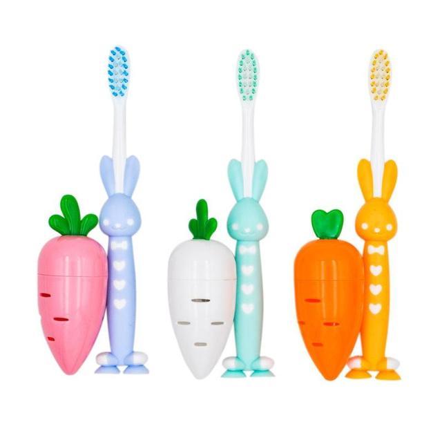 Dental cepillo de dientes patrón de dibujos animados de niños a casa de pelo suave Sacapuntas de lápiz de juguete