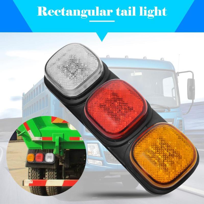 24 В 87 светодиодный левый задний фонарь грузовик прицеп задний индикатор Лампа стоп Обратный Свет высокие яркие светодиодные лампы для прицепа караванов