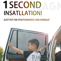 Для Discovery Sport/Discovery 4/Discovery 5/Range Rover Evoque Автомобильная шторка черная Автомобильная боковая шторка Солнцезащитная сетка