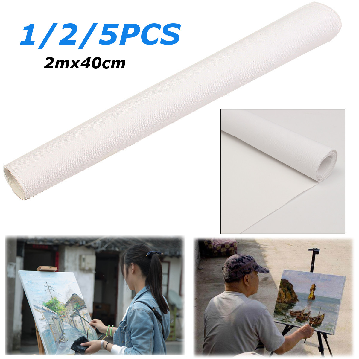 200x40cm White Blank Canvas Fabric Artist Canvas Roll Cotton Canvas For Watercolors Acrylic Oil Painting Art Painting Supplies200x40cm White Blank Canvas Fabric Artist Canvas Roll Cotton Canvas For Watercolors Acrylic Oil Painting Art Painting Supplies