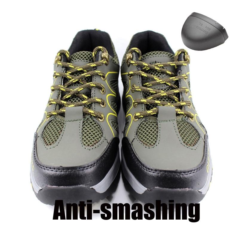 Al Acero Puntera Botas Libre Green Punción Army De Para A Trabajo Los Prueba Indestructible Hombres Hombre Seguridad Protectora Aire Zapatos S1tw1q
