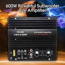 12 В 600 Вт моно автомобильный аудио усилитель мощности мощность Full Bass сабвуферный усилитель PA-60A Черный Автомобильный усилитель