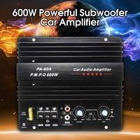 12V 600W Mono Car Audio Power Amplifier Powerful Bass Subwoofers Amp PA 60A Black Car Amplifier Board
