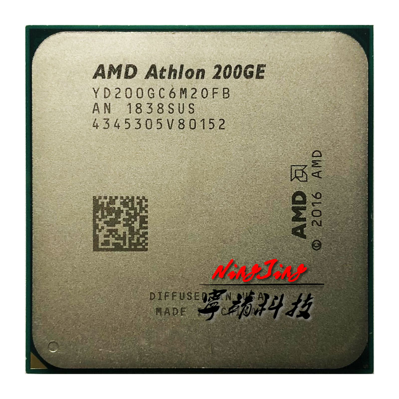 AMD Athlon 200GE X2 200GE 3.2 GHz Dual Core Quad Thread CPU Processor YD200GC6M2OFB Socket AM4-in CPUs from Computer & Office