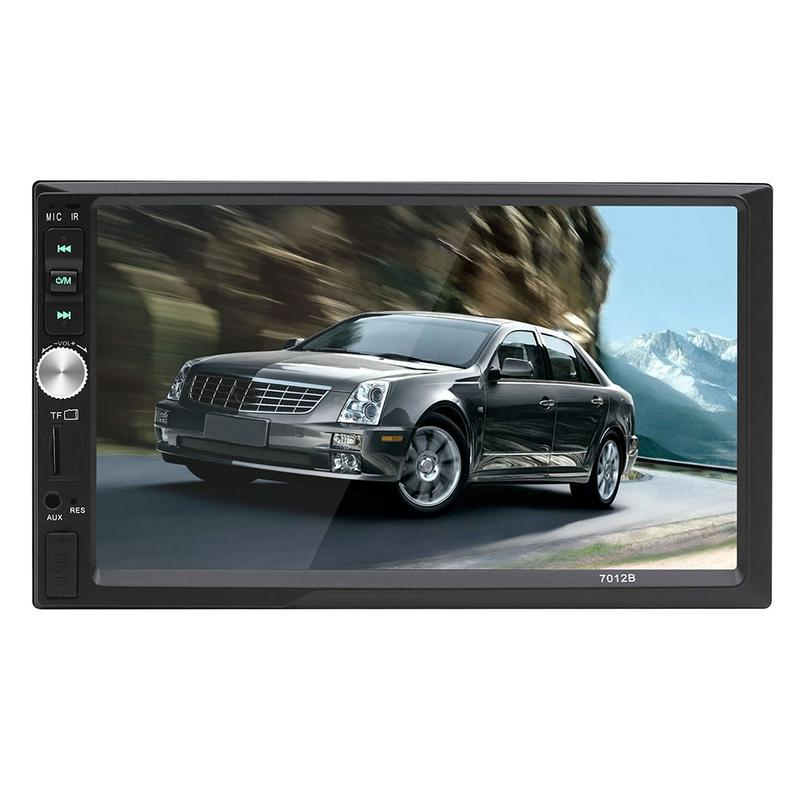 "7"" Car Multimedia Player 2 DIN Touch Screen  FM Audio Radio MP3 MP5 Player Bluetooth Hands-free Calls Rearview Camera"