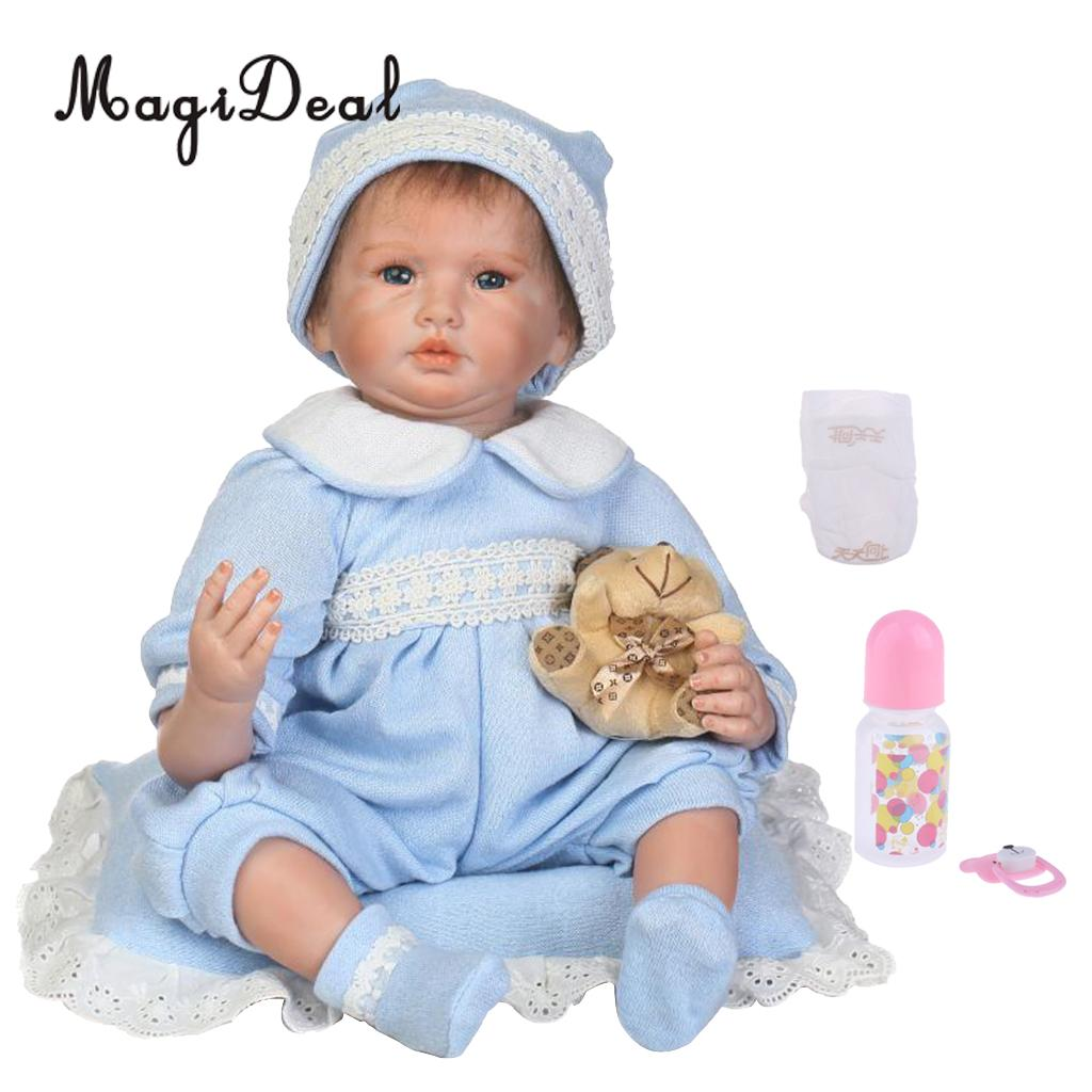 Lovely 22inch Realistic NPK Reborn Doll Native American Newborn Infant Baby Doll Mold With Outfits and Nursing AccessoriesLovely 22inch Realistic NPK Reborn Doll Native American Newborn Infant Baby Doll Mold With Outfits and Nursing Accessories