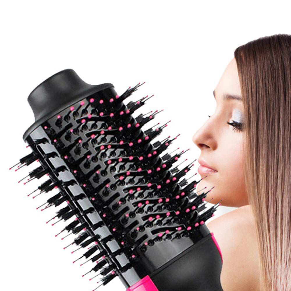 Image 4 - One Step Hair Dryer and Volumizer, ManKami Salon Hot Air Paddle Styling Brush Negative Ion Generator Hair Straightener Curler-in Hair Dryers from Home Appliances