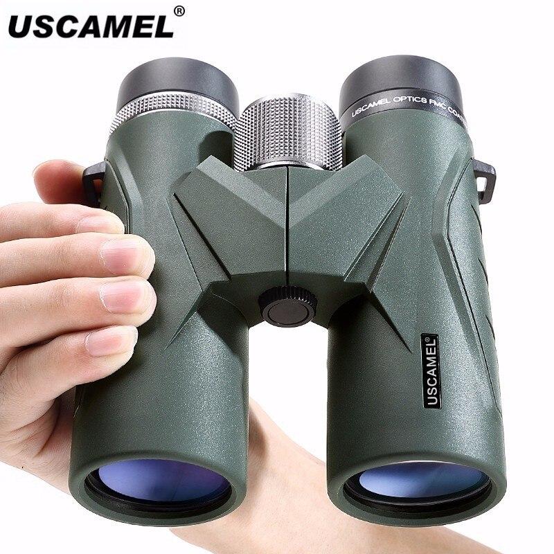 USCAMEL 8x42 Compact Binoculars For Bird Watching Bak4 Nitrogen Filled Waterproof Telescope For Travelling Hunting Army