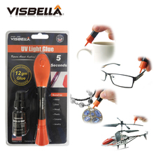 Visbella 12g big package with 8g refill bottle Liquid Plastic Welding Glue 5 Second Fix UV Light quickly seal and repair