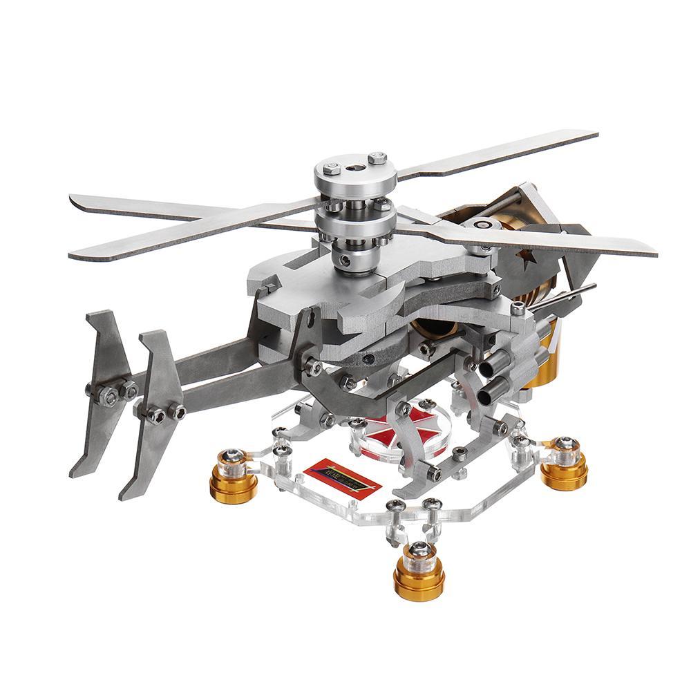 Mise à niveau Stirling moteur modèle hélicoptère militaire conception Science métal jouet Collection enfants enfants expérience éducative