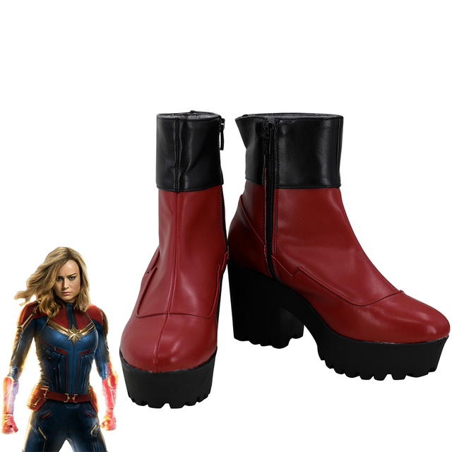 Avengers Captain Marvel Carol Danvers Cosplay Shoes Women Boots